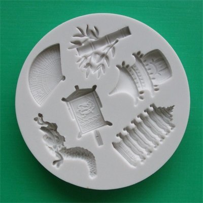 FOOD GRADE MOLD - The Far East Theme Design - Cake Decorating Mold - The Art of Cake Dressing - (62)
