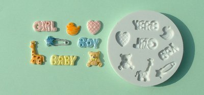 FOOD GRADE MOLD - The Baby Theme Design - Cake Decorating Mold - The Art of Cake Dressing - (10)
