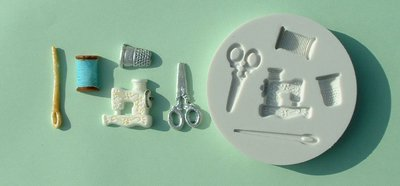 FOOD GRADE MOLD - The Sewing Theme Design - Cake Decorating Mold - The Art of Cake Dressing - (12)