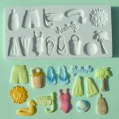 FOOD GRADE MOLD - Beach Theme Design - Cake Decorating Mold - The Art of Cake Dressing - (18)