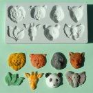 FOOD GRADE MOLD - Large Animal Head Design - Cake Decorating Mold - The Art of Cake Dressing - (21)