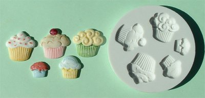 FOOD GRADE MOLD - The Cup Cake Design - Cake Decorating Mold - The Art of Cake Dressing - (22)