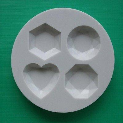 FOOD GRADE MOLD - GEMS (A) design - Cake Decorating Mold - The Art of Cake Dressing - (77)
