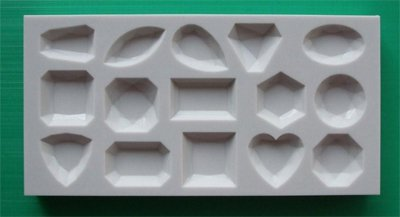 FOOD GRADE MOLD - SMALL GEMS 15 design - Cake Decorating Mold - The Art of Cake Dressing - (76)