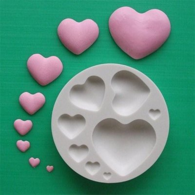 FOOD GRADE MOLD - Plain Hearts Design - Cake Decorating Mold - The Art of Cake Dressing - (72)