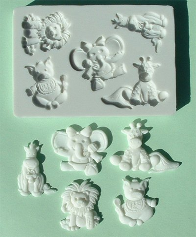 FOOD GRADE MOLD - Baby Animals Design - Cake Decorating Mold - The Art of Cake Dressing - (25)