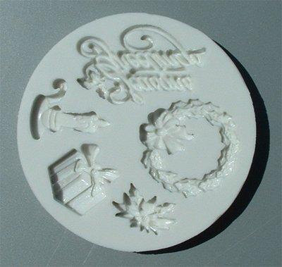 FOOD GRADE MOLD - Seasons Greetings Theme - Cake Decorating Mold - The Art of Cake Dressing (45)