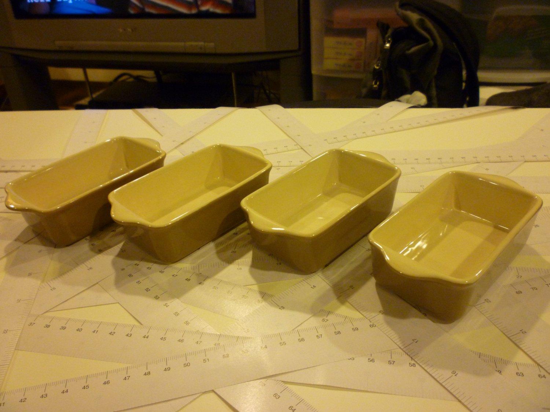 Four Ramekins - Light Brown - Ceramics - For any Baking, Serve Dessert