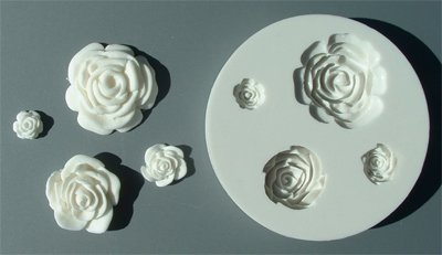 FOOD GRADE MOLD - The Roses 4 in 1 Design - Cake Decorating Mold - The Art of Cake Dressing - (34)