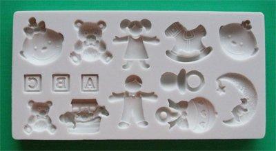 FOOD GRADE MOLD - Nursery Theme Design - Cake Decorating Mold - The Art of Cake Dressing - (58)