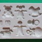 FOOD GRADE MOLD - Nursery Theme Design - Cake Decorating Mold - The Art of Cake Dressing - (58)