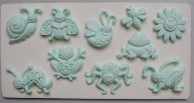 FOOD GRADE MOLD - Summer Bugs Theme Design - Cake Decorating Mold - The Art of Cake Dressing - (95)