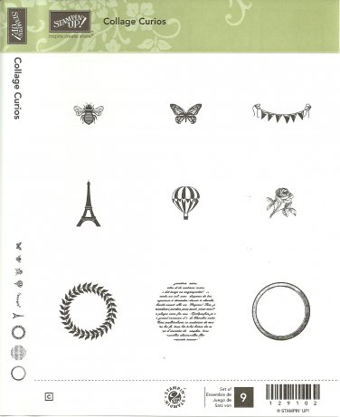 COLLAGE CURIOS � STAMPIN' UP! � RETIRED CLEAR MOUNT 2 Step Stampin' SET