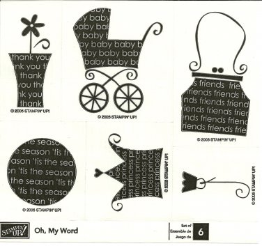 OH, MY WORD - STAMPIN' UP! � RETIRED WOOD BLOCK SET