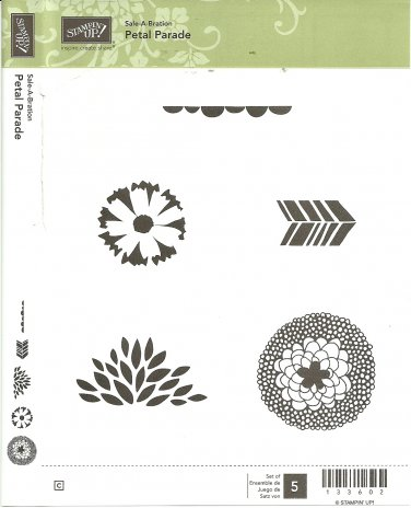 PETAL PARADE - STAMPIN' UP! � RETIRED CLEAR MOUNT SET