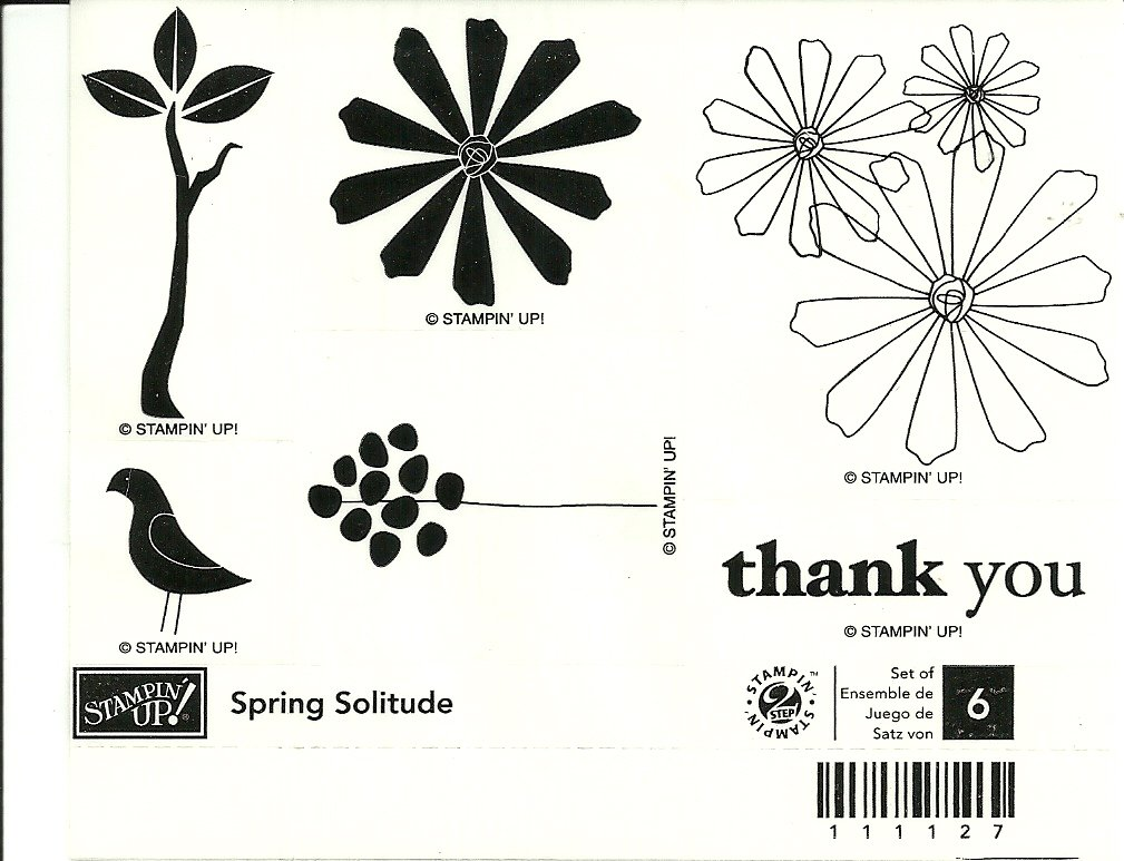 SPRING SOLITUDE - STAMPIN' UP! - Retired Set - NEW UNMOUNTED bird tree