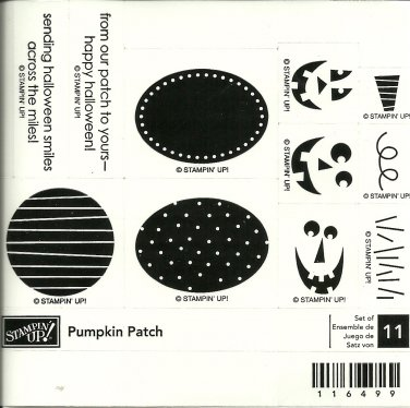 PUMPKIN PATCH - STAMPIN' UP! - Retired Halloween Set - NEW UNMOUNTED