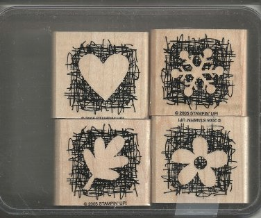 MADE FROM SCRATCH - STAMPIN' UP! - 2005 Retired Set - MOUNTED