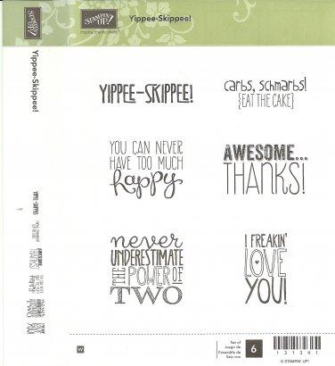 YIPPEE-SKIPPEE! - STAMPIN' UP! - Retired Set - NEW - WOOD BLOCKS