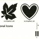 SEASONAL ICONS - STAMPIN' UP! - Retired Set - NEW UNMOUNTED leaf heart flower