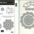 Stampin' Up! DEAR DOILY Cling set & DOILY BUILDER THINLITS Dies - NEW