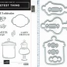 Stampin' Up! SWEETEST THING & JAR OF SWEETS FRAMELITS Dies - NEW