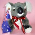 Koala Plush Toy ~ 16cm high, with Australian Flag