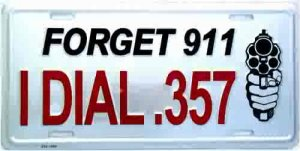 Forget 911 License Plate