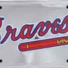Atlanta Braves Anodized License Plate