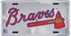 Atlanta Braves Anodized License Plate