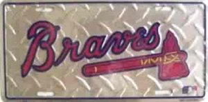 Atlanta Braves Diamond License Plate