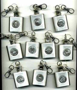 (12)FLASK. Keychain.