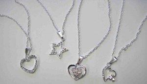 "20"" Rhinestone necklace,"