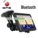 5 Inch Portable Touch Screen GPS Navigator - Bluetooth (Black)