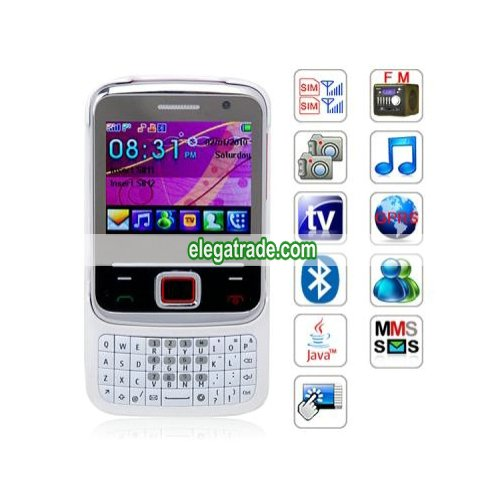 Quad Band  Cards  Standby Cameras Color TV Bluetooth JAVA  QWERTY  Phone
