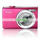 Winait's DC-E10 2.4 Inch 12MP Color TFT LCD with 8X Digital Zoom Digital Camera - Pink
