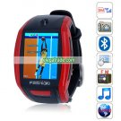 F6 Quad Band Single Card Single Standby Camera Bluetooth 1.8-inch Touch Screen Watch Phone - Red