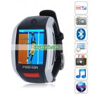 F6 Quad Band Single Card Single Standby Camera Bluetooth 1.8-inch Touch Screen Watch Phone - Silver