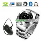 MQ006 Stainless Steel Quad Band Touch Screen Watchphone with Camera MP4 FM