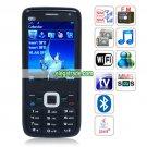 N6700 Quad Band Dual Card Dual Cameras WiFi Color TV Bluetooth Java Phone - Black