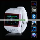 V6 Quad Band Single Card 2.0 MP Camera Bluetooth 1.33-inch Touch Screen Watch Phone - White