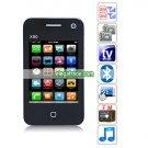 X90 Quad Band Dual Cards Dual Standby Dual Cameras Color TV Bluetooth  HiPhone - Black