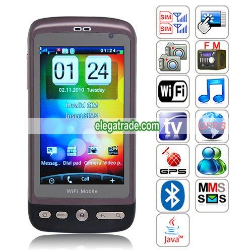 G700 Quad Band Dual Cards Dual Standby Dual Cameras Color TV Bluetooth WIFI JAVA WAP Phone