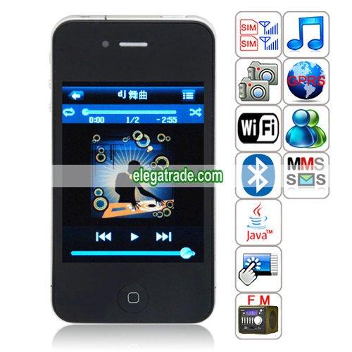 HiPhone PK268 Quad Band Dual Cards Dual Standby Dual Cameras WIFI Bluetooth Java Phone