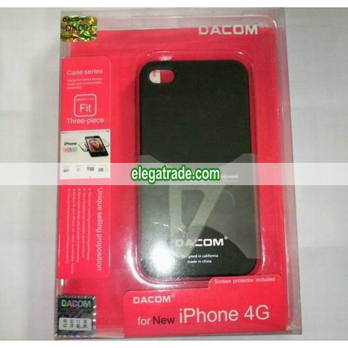Dacom DK001 Hard Plastic Back Case + Screen Protector + Stand For Apple iPhone 4 4G