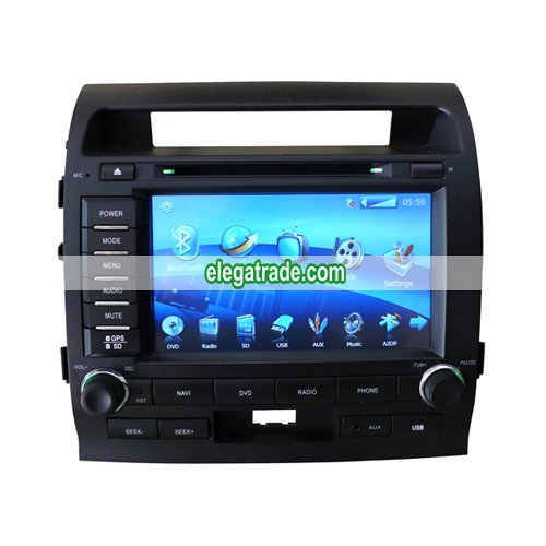 Custom Car DVD Player GPS Radio System with 8'HD Touch Screen For Toyota Land Cruiser