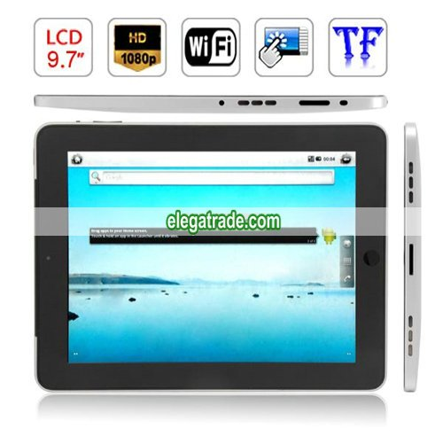 Android 2.2 iMX515 1GHZ 512M RAM 8GB HDD WIFI 9.7-inch Capacitive Touch Screen Tablet PC