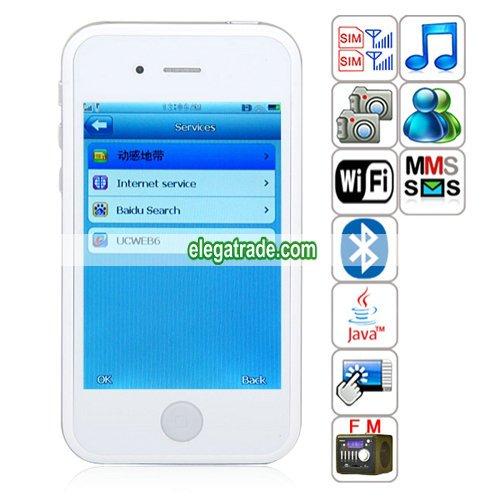 HiPhone phone 5 Quad Band Dual Cards Dual Standby Dual Cameras WIFI Bluetooth Java Phone