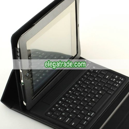 Briefcase with Wireless Bluetooth Keyboard for Apple ipad, Genuine Leather