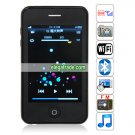 Quad Band Single Card Dual Cameras WIFI Bluetooth 3.5-inch Touch Screen Phone  - Black